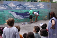 Chris & Howie do a suprise mural during afternoon siesta