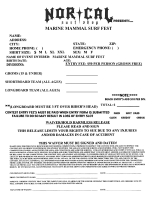 Marine Mammal Entry Form