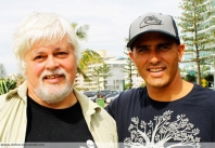 Paul Watson and Kelly Slater