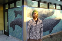 Chris Del Morro with latest Whale Mural