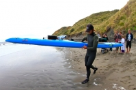 Nov 29 leaves beach at Port Waikato bound for Whatipu 45km