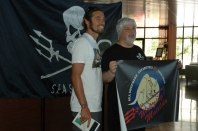 Dave Rastovich and Captain Paul Watson at Sea Shepherd campaign launch